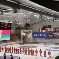 На хокейному турнірі замість гімну Білорусі включили хіт «Піснярів» (відео)