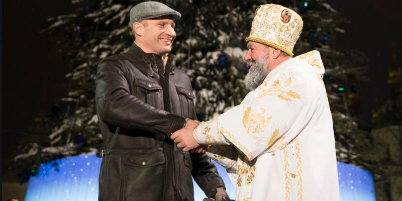 Кличко взяв участь у церемонії запалювання вогнів на головній новорічній ялинці України