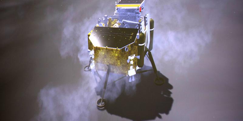 Китайський космічний апарат «Чан'е-4» надіслав перший знімокзізворотного боку Місяця
