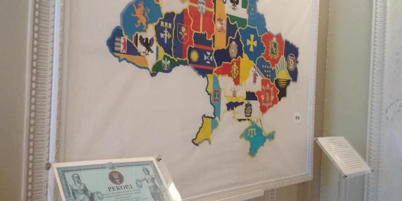 У Верховній Раді розмістять триметрову вишиту мапу України