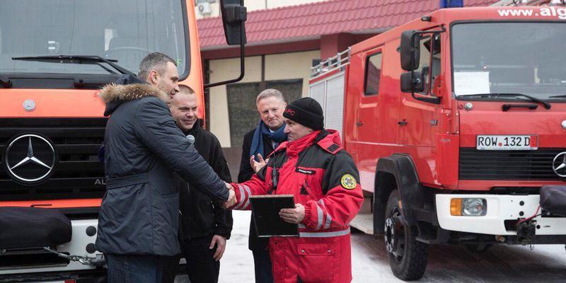 Кличко: «В рамках співпраці з Мюнхеном рятувальники отримали вкрай необхідну спецтехніку»