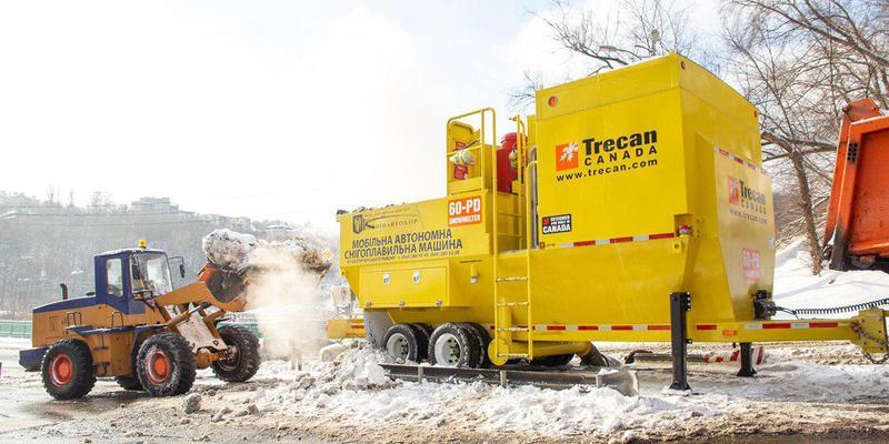 В столиці вперше в Україні почали працювати мобільні снігоплавильні установки (відео) – КМДА
