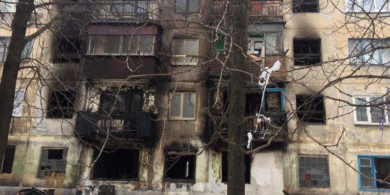 На Донеччині в житловому будинку стався вибух, є постраждалі (фото)