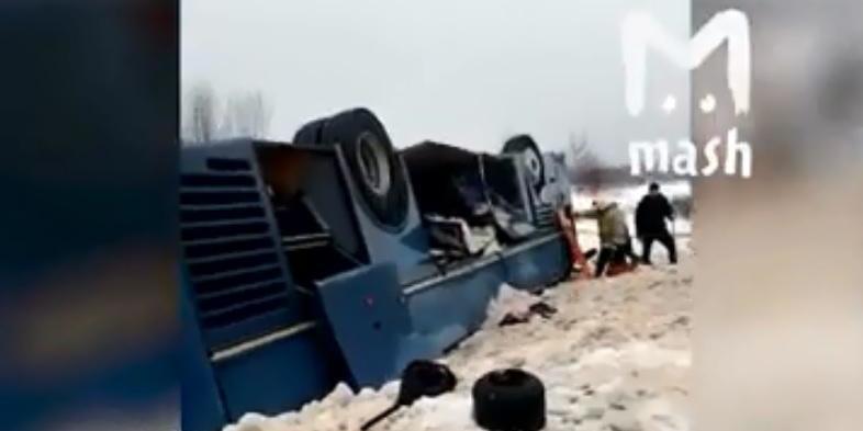 У Росії перекинувся автобус з дітьми, загинули семеро людей (відео)