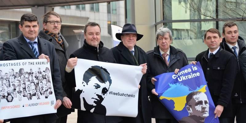 Євродепутати у день народження Сущенка і Балуха закликали РФ звільнити політв'язнів