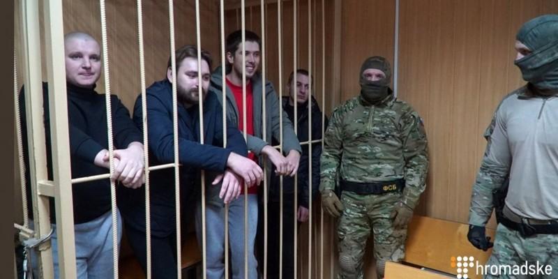 У Росії суд залишив під вартою чотирьох українських моряків