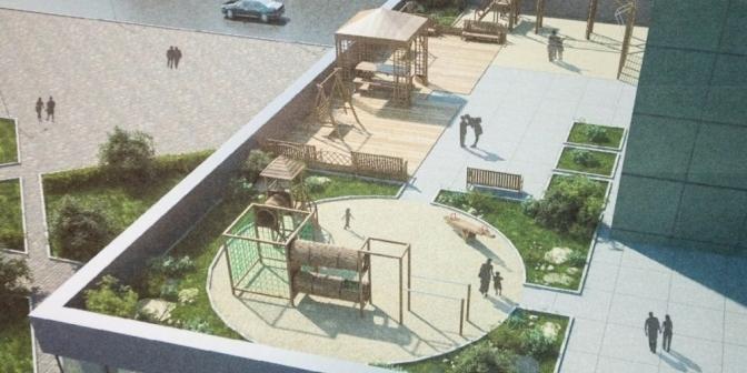 Мінрегіон дозволив будувати на дахах невисоких будинків дитячі майданчики