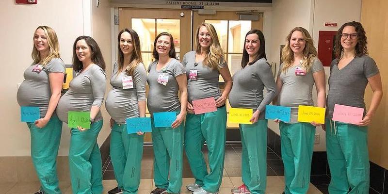 У США дев'ять медсестер пологового відділення вагітні водночас