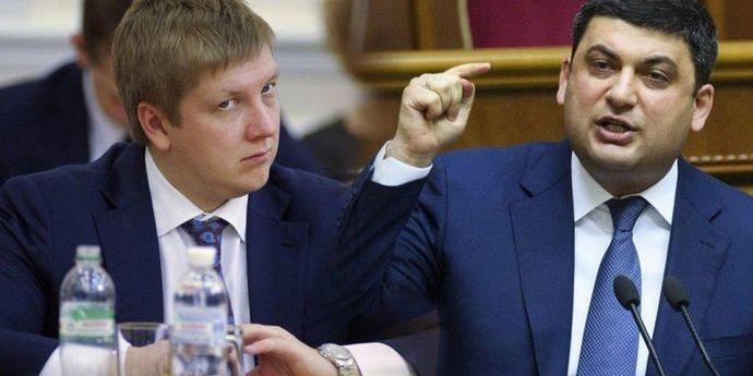 Ціна на газ: Гройсман пригрозив Коболєву відставкою