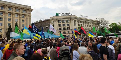 У Харкові мітингують проти знесення намету волонтерів