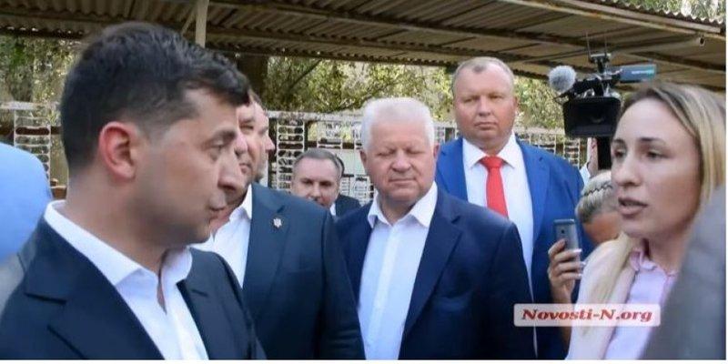 У Миколаєві Зеленський зустрівся із чиновницею, яка обізвала його «малоросом»
