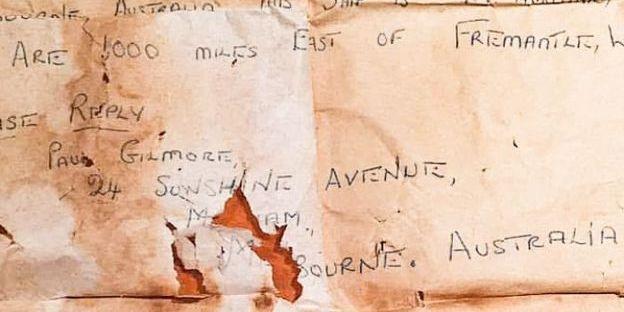 Автора послання у пляшці знайшли через 50 років