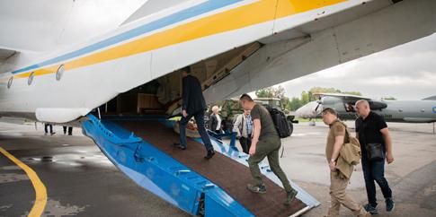 Члени ЦВК прилетіли до округу на Донеччині, щоб забрати документацію