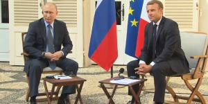 «Є речі, які можна обговорювати», — Путін про Донбас після зустрічі з Макроном