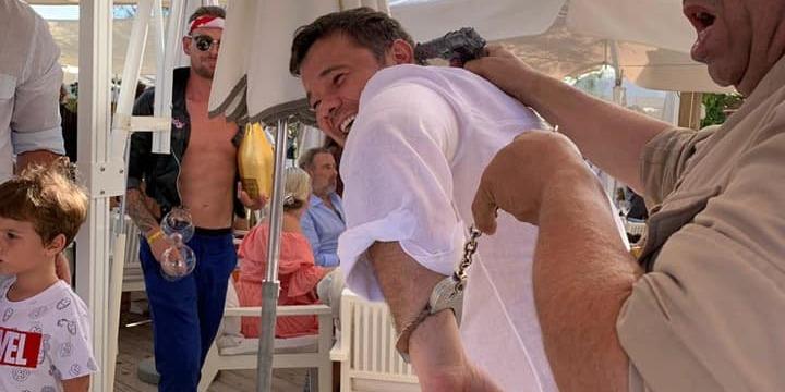 Богдан у наручниках пожартував з приводу весілля в Сен-Тропе