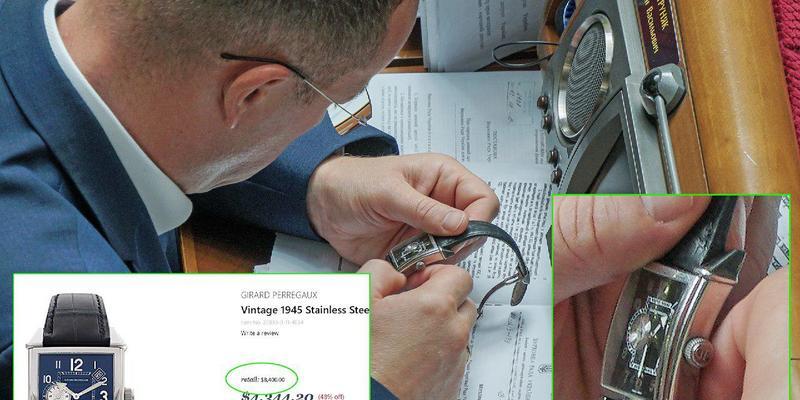 «Слуга народу» Євген Петруняк похвалився годинником майже за 8,4 тисячі доларів (фото)