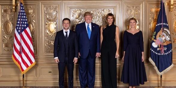Зеленський і Трамп зустрілися сім'ями