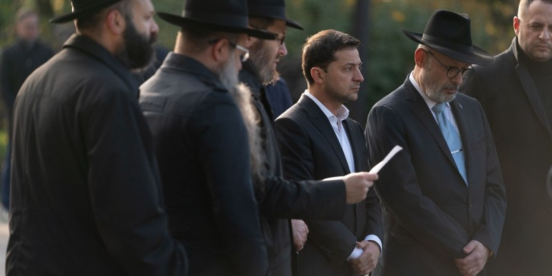 Зеленський разом із представниками Ради Федерації єврейських громад ушанував пам'ять жертв Бабиного Яру