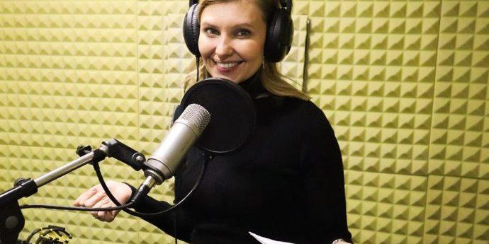 Перша леді Олена Зеленська взяла участь у проєкті «Книги, что говорять»