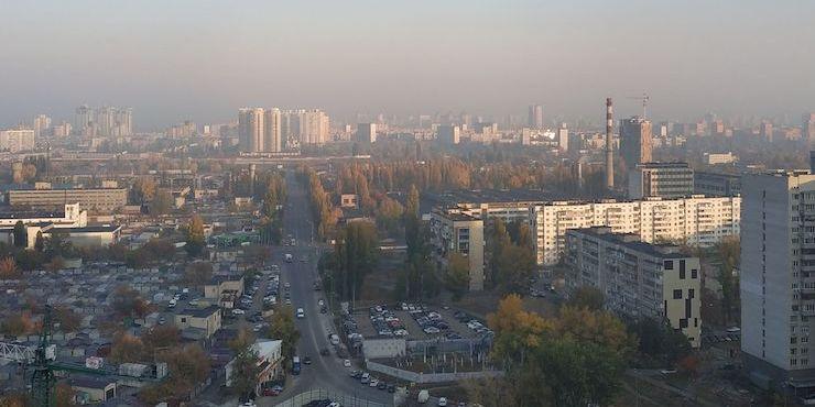Датчики фіксують значне забруднення повітря у Києві