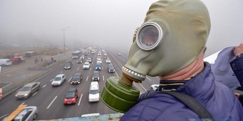 Кияни вийшли на акцію протесту через смог та брудне повітря (фото, відео)