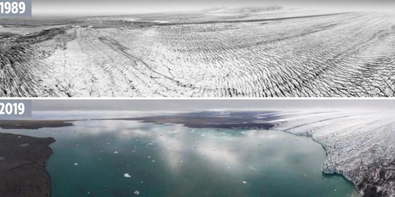 Учені за допомогою старих фото показали танення льодовиків (фото)