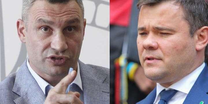 Мер Києва звинуватив голову Офісу президента у «самоправстві»