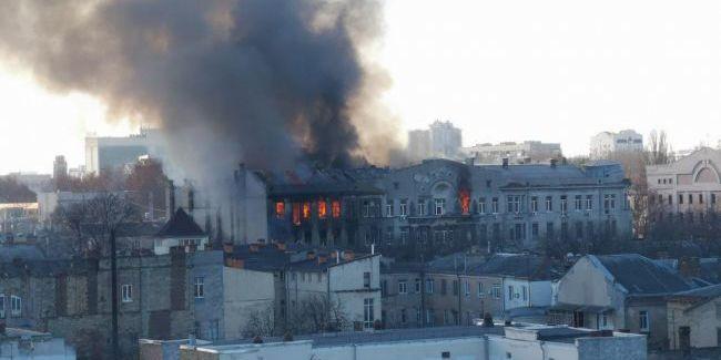 Названа можлива причина пожежі в Одесі
