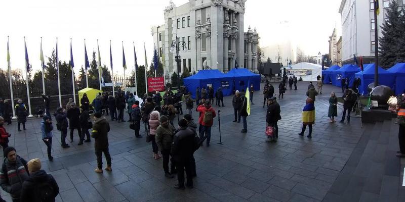 «Варта на Банковій»: під Офісом Президента досі проходить акція