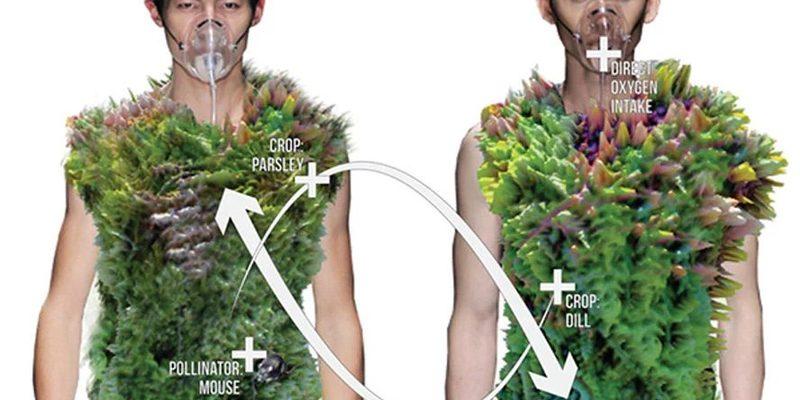 У Пекіні представили цікавий одяг з рослин, які харчуються відходами людини