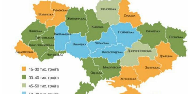 Якою буде ціна гектара сільгосподарських угідь при відкритті ринку землі в Україні? (інфографіка)