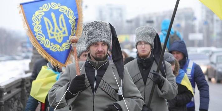 У Києві два береги Дніпра з'єднали живим ланцюгом