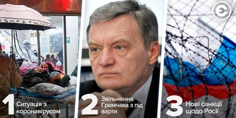 Найголовніше за день: ситуація з коронавірусом, звільнення Гримчака з під варти та нові санкції щодо Росії