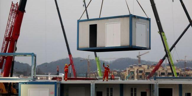 У Китаї добудували лікарню для хворих коронавірусом