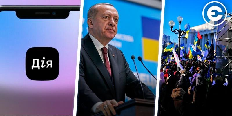 Головні новини тижня: запуск мобільного додатку «Дія», Ердоган в Києві, протести проти відкриття ринку землі