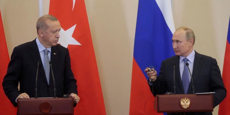 Путін та Ердоган провели телефонну розмову після атаки в Сирії: деталі
