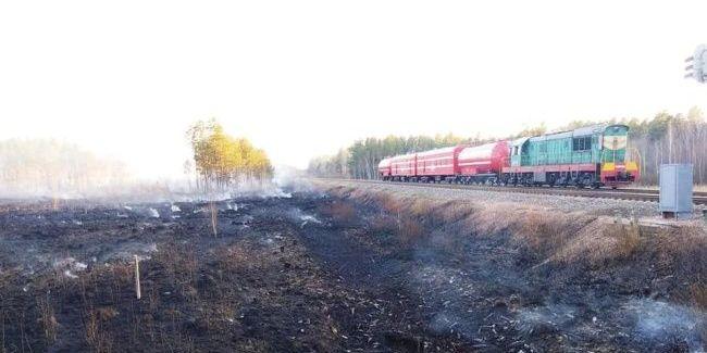 «Укрзалізниця» долучилася до гасіння лісових пожеж у Житомирській області