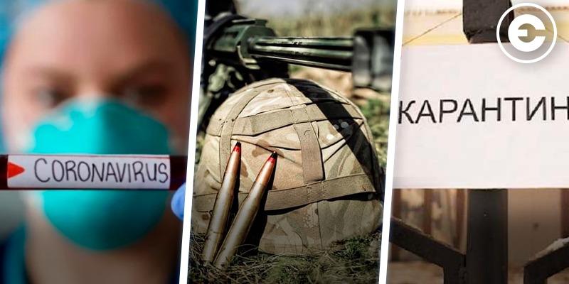 Найголовніше за день: зростання кількості випадків COVID-19, загибель військового в зоні ООС та продовження карантину