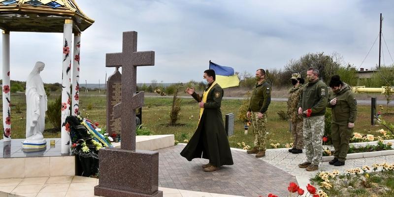 Військові на Донеччині вшанували пам'ять загиблих побратимів