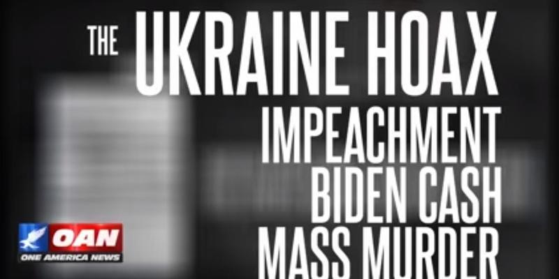 Фільм телеканалу OAN «Українська брехня: імпічмент, гроші Байдена, масові вбивства». Вперше українською