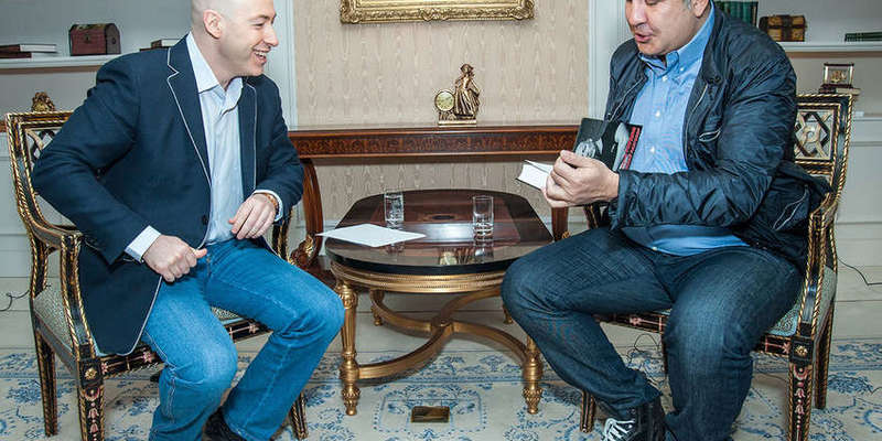 Саакашвілі підтримав Гордона в скандалі через інтерв'ю з Гіркиним
